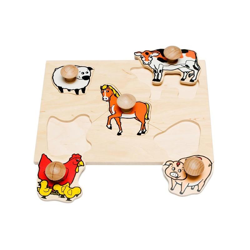 """Рамка-вкладыши """"Домашние животные"""" Lam Toys (5 деталей)"""