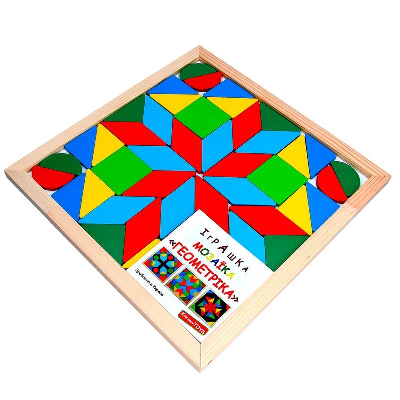 Мозаика Геометрика 4 фигуры Komarovtoys