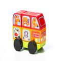 """Автобус """"Веселые звери"""" LM-10 Cubika (7 деталей)"""