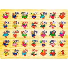Азбука (деревянный) P 64 Игрушки из дерева 35 деталей