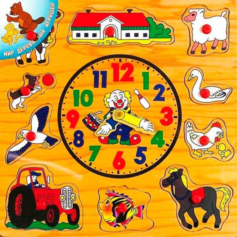Часы Р 35 Игрушки из дерева 11 деталей