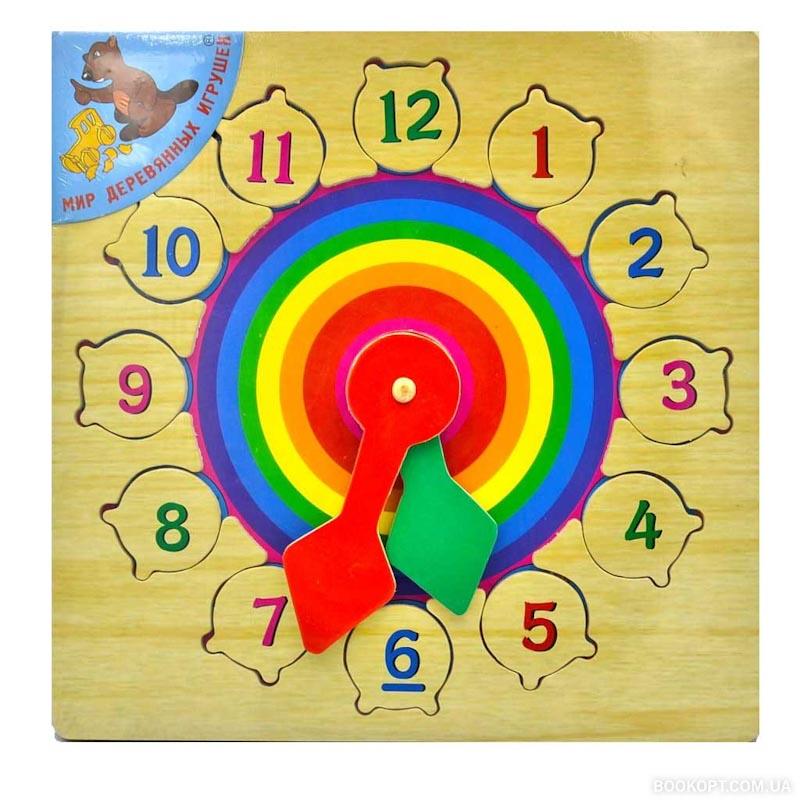 """Часы """"Радуга"""" Р 01 Игрушки из дерева"""
