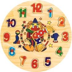 """Часы """"Цифры"""" Р 02 Игрушки из дерева"""