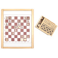 Деревянная игровая панель шахматы и шашки 446-19 Lam Toys
