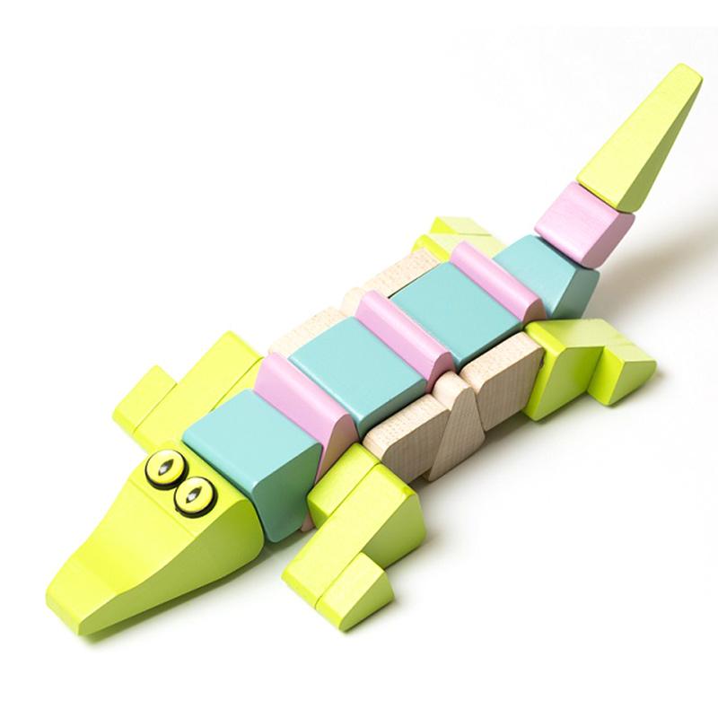 """Деревянная игрушка """"Крокодил акробат LA-2"""" Cubika"""