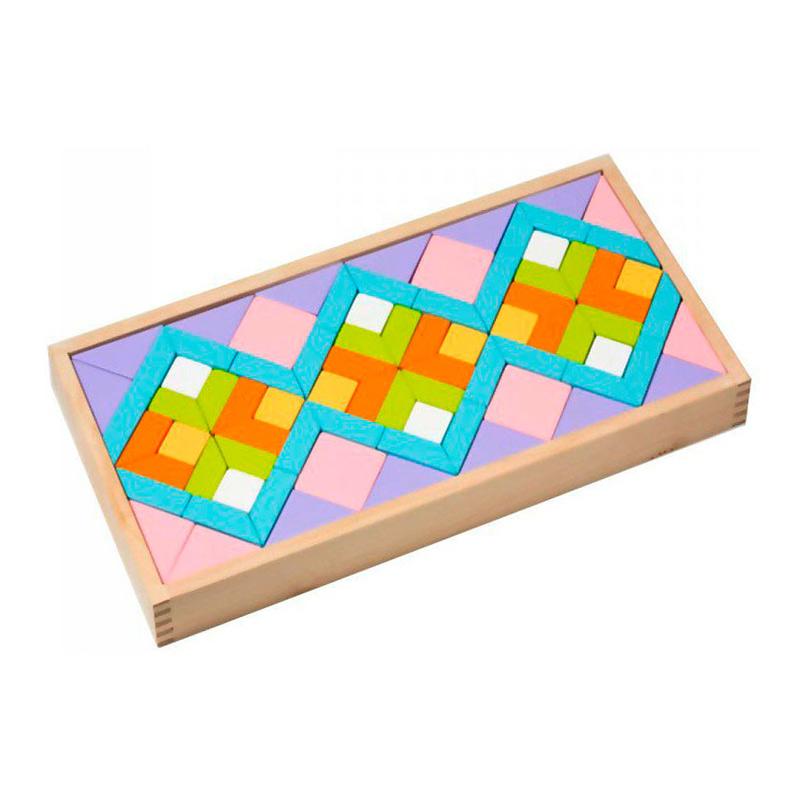 """Деревянная игрушка """"Орнамент LR-1"""" Cubika (80 деталей)"""