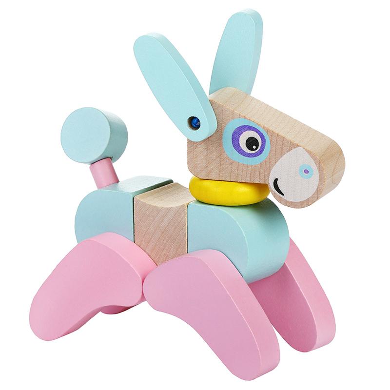 """Деревянная игрушка """"Ослик акробат LA-5"""" Cubika (13 деталей)"""