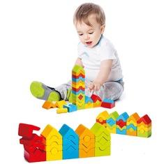 Деревянная развивающая игрушка Пирамидка LD-13 Cubika (25 деталей)
