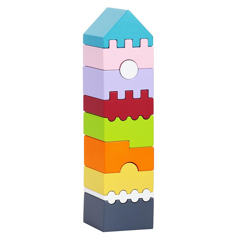 """Деревянная башня """"LD-1"""" Cubika (10 деталей)"""