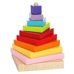 """Деревянная пирамидка """"LD-5"""" Cubika (10 деталей)"""