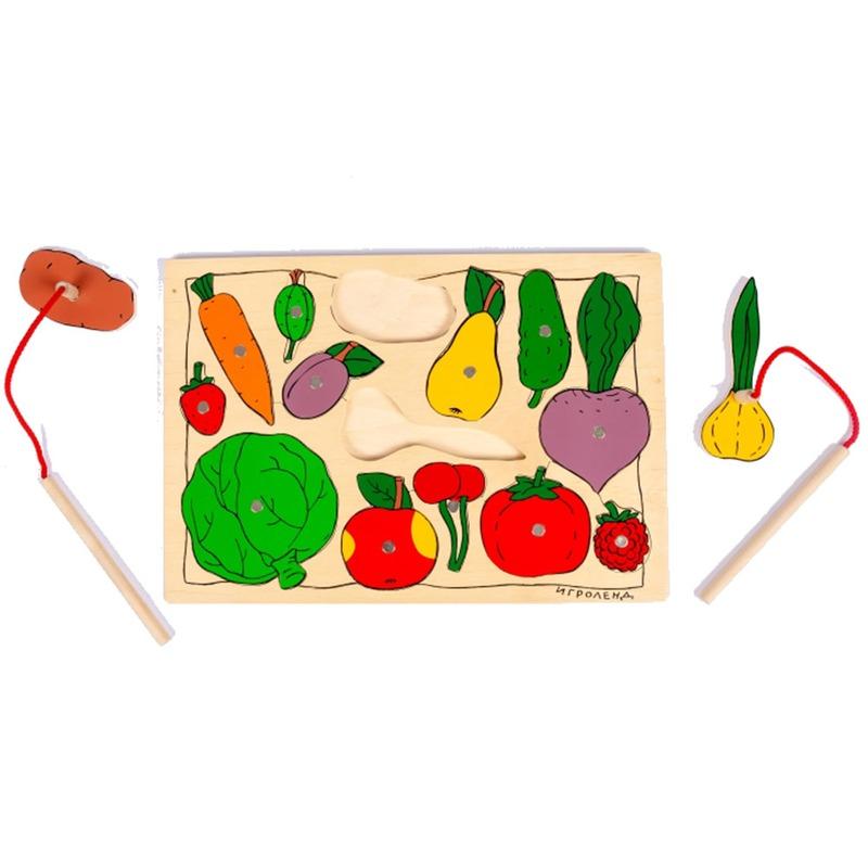 """Рамка-вкладыши на магнитах """"Кто искусный? Во саду ли в огороде"""" 1324 Lam Toys 14 деталей"""