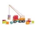 Деревянная развивающая игрушка Машинка Автокран ТМ CUBIKA 14 деталей