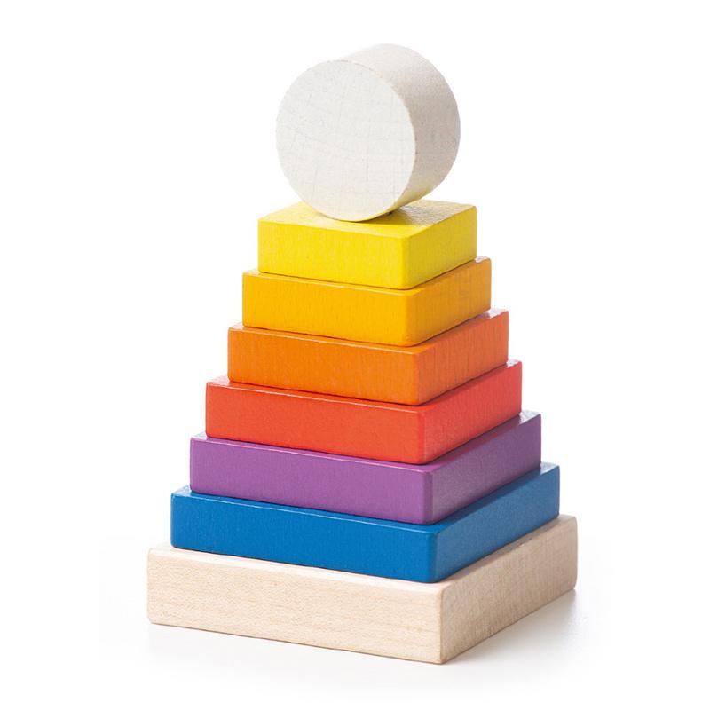 """Деревянная развивающая игрушка пирамидка """"LD-14"""" Cubika (8 деталей)"""