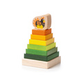 """Деревянная развивающая игрушка пирамидка """"LD-15"""" Cubika (8 деталей)"""