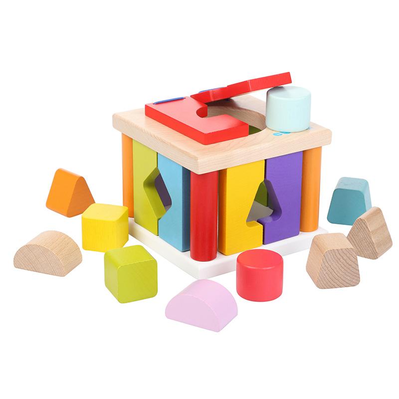 Деревянная развивающая игрушка Сортер квадратный LS-5 ТМ CUBIKA (11 деталей)