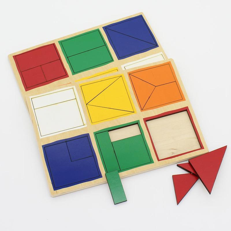 """Деревянные планшеты """"Сложи квадрат Никитиных"""" 1-й уровень Lam Toys (28 деталей)"""