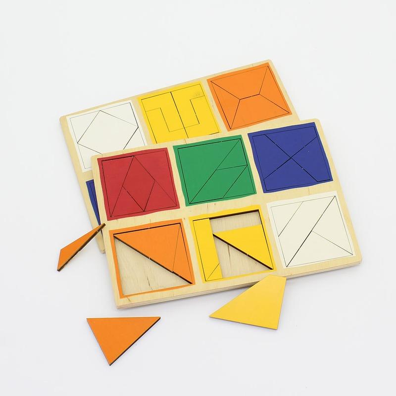"""Деревянные планшеты """"Сложи квадрат Никитиных"""" 2-й уровень Lam Toys (56 деталей)"""