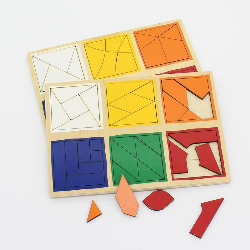 """Деревянные планшеты """"Сложи квадрат Никитиных"""" 3-й уровень Lam Toys (65 деталей)"""