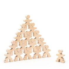 """Деревянный конструктор """"Маленькие человечки"""" 5055 Lam Toys (15 деталей)"""