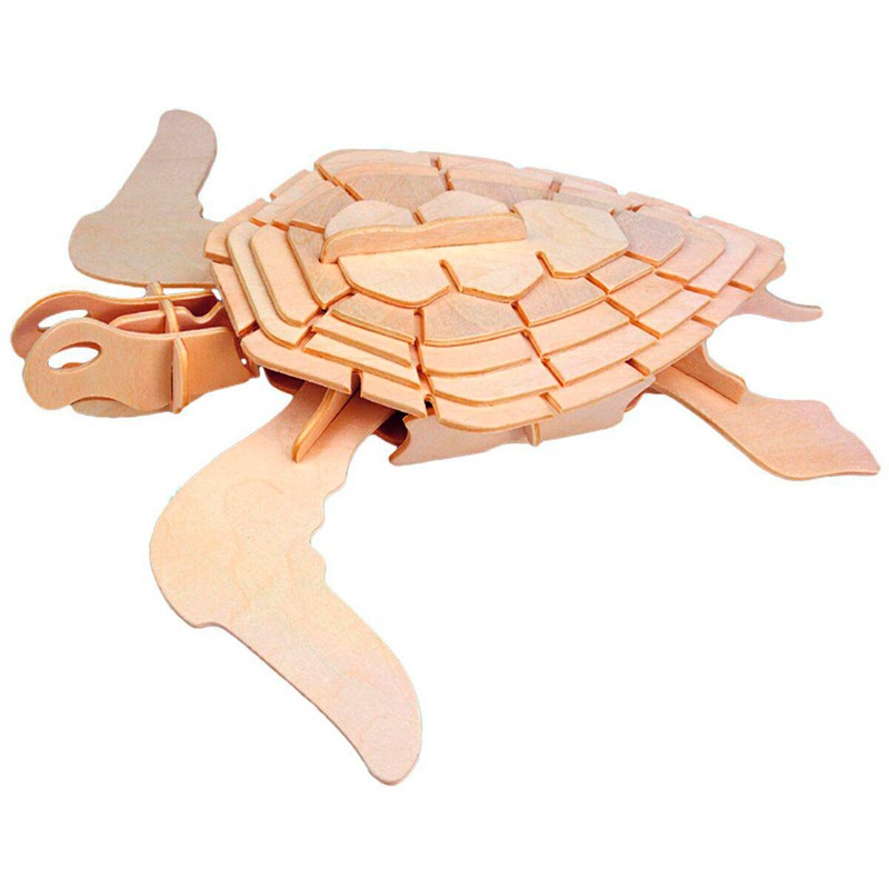 Деревянный конструктор Морская черепаха Игрушки из дерева