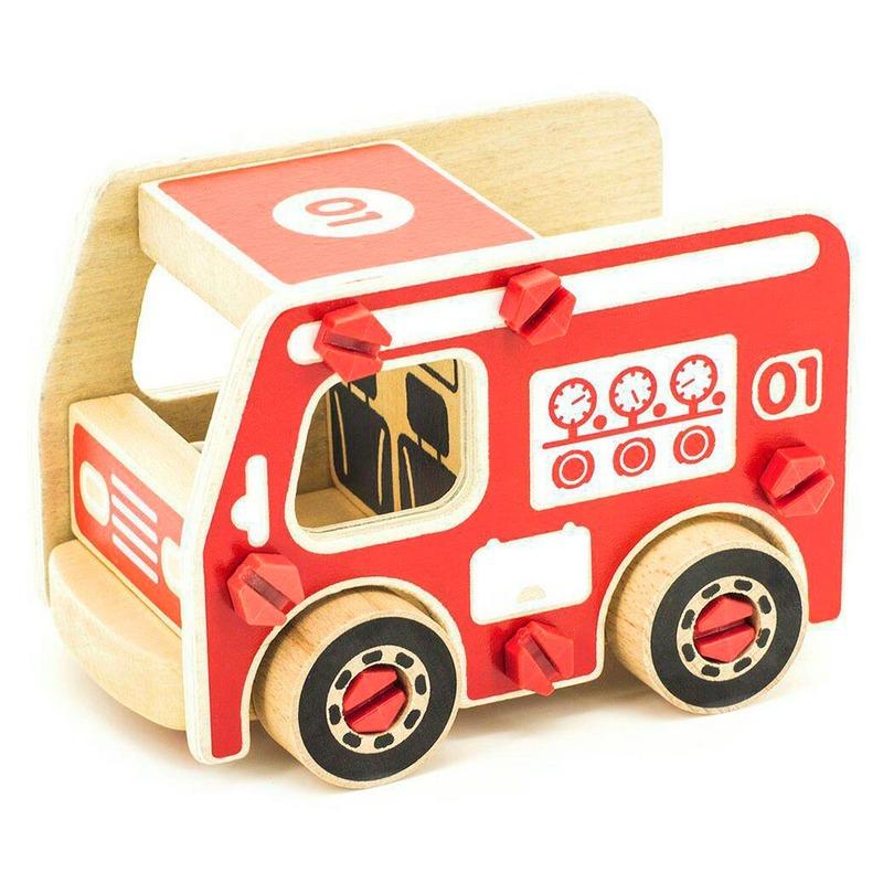 Деревянный конструктор Пожарная машина Игрушки из дерева