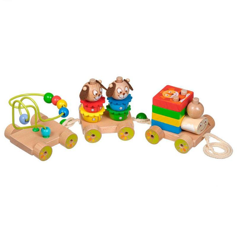 Деревянный Паровозик Чух-чух 1 Игрушки из дерева