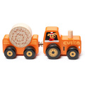 """Деревянная игрушка """"Трактор"""" на магнитах Cubika 15351 (3 детали)"""