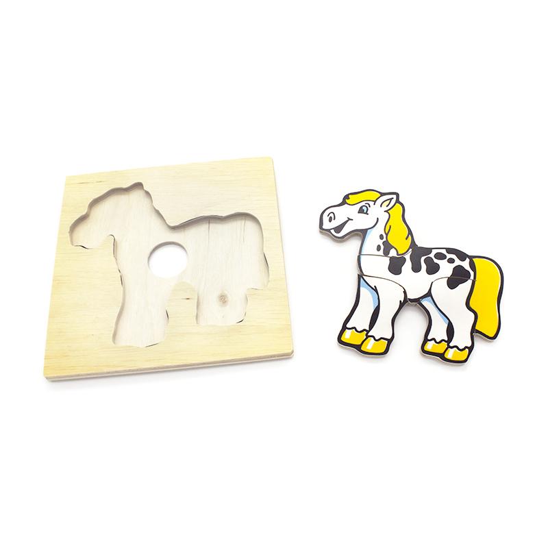 Детская мозаика Конь 1480-9 Lam Toys (6 деталей)