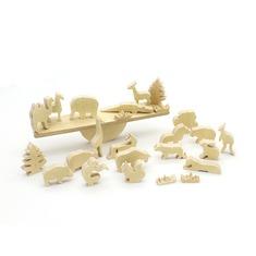 Детский деревянный балансир зоопарк 5059 LAM TOYS 26 деталей
