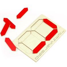 Детский деревянный планшет Цифра 5051 Lam Toys (8 деталей)