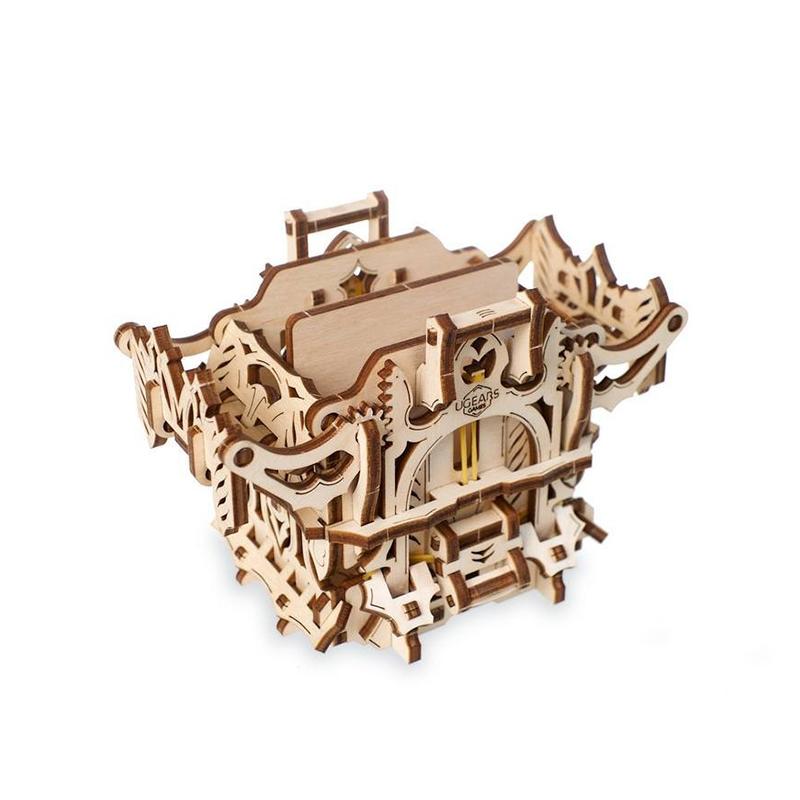 Механический деревянный конструктор UGEARS Девайсы для игр Дек Бокс 70071 (65 деталей)
