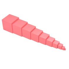 """Дидактический набор """"Розовая башня». ММ0001Komarovtoys 10 элементов"""
