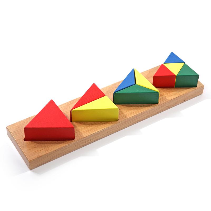 Сортер Дроби маленькие 3 (треугольник) Д146 Игрушки из дерева (11 деталей)