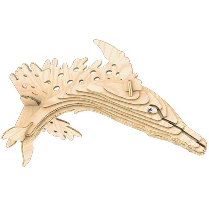 Горбатый Кит Ш001 Игрушки из дерева 24 детали