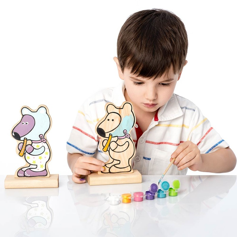 """Гра-розмальовка """"Ведмедик"""" (з фарбами) Cubika"""