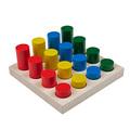 """Игра """"Цветные цилиндры"""" сортер Komarovtoys (16 деталей)"""