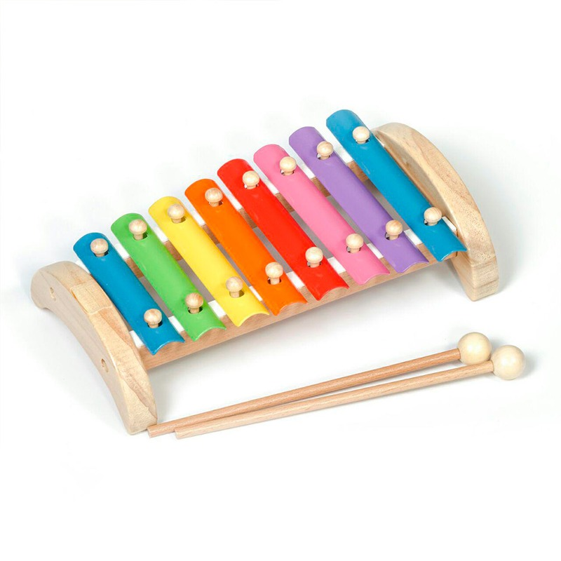 Игрушка ксилофон 8 тонов Игрушки из дерева