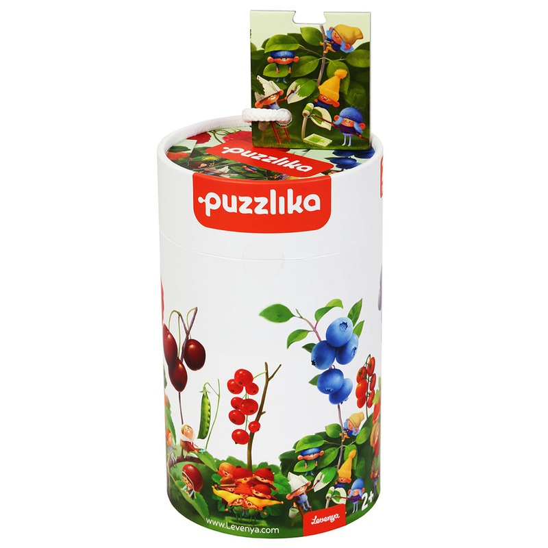 """Пазлы """"Гномы и ягоды 1"""" 13548 Cubika (20 деталей)"""