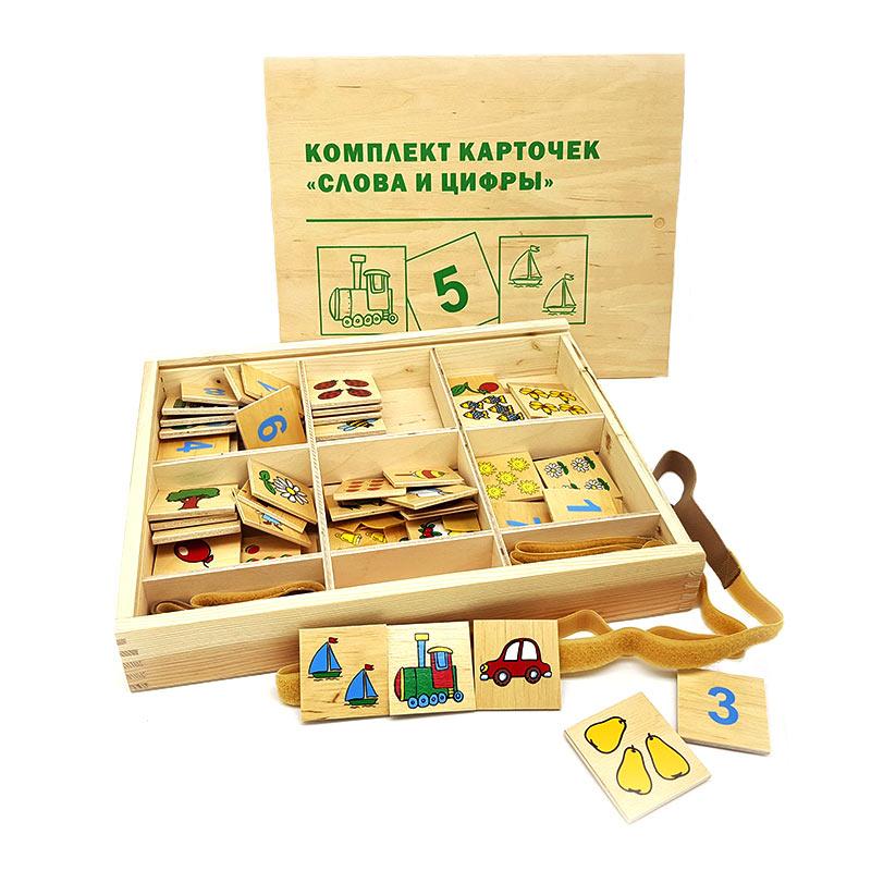 """Комплект карточек """"Слова и цифры"""" 1629 Lam Toys (60 деталей)"""