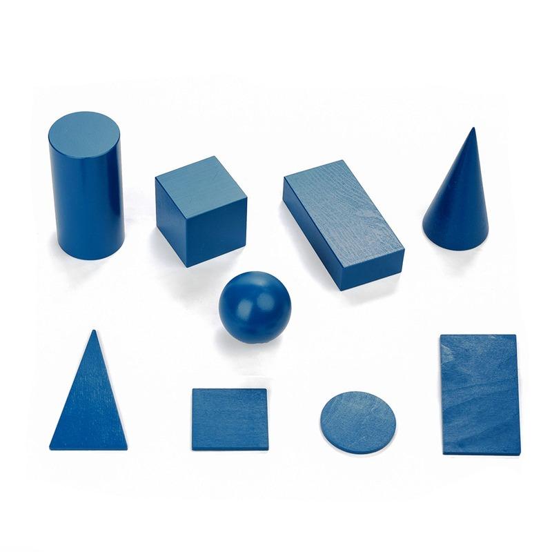 Конструктор Набор геометрических тел и фигур Komarovtoys 10 деталей