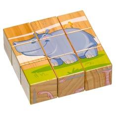 Кубики Животные Саванны Люси и Лео 9 деталей