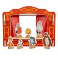 Кукольный театр Д170 Игрушки из дерева 29 деталей