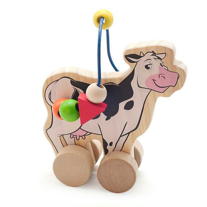 Лабиринт-каталка Корова Игрушки из дерева