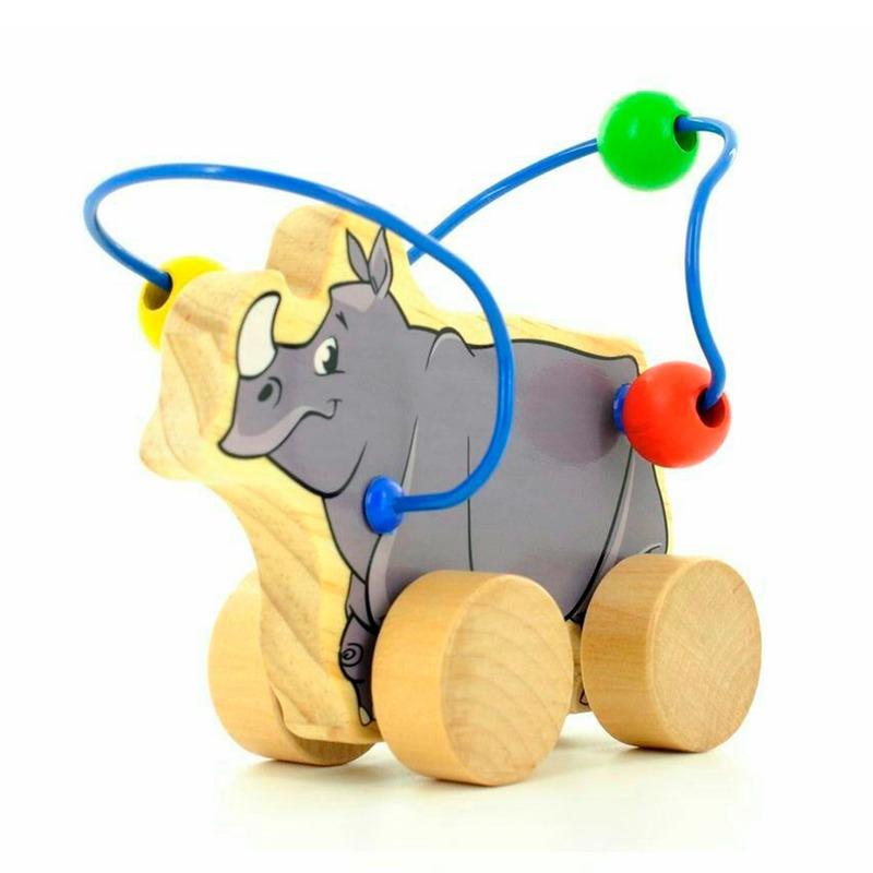 Лабиринт-каталка Носорог Игрушки из дерева