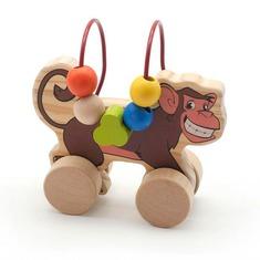 Лабиринт-каталка Обезьянка Игрушки из дерева