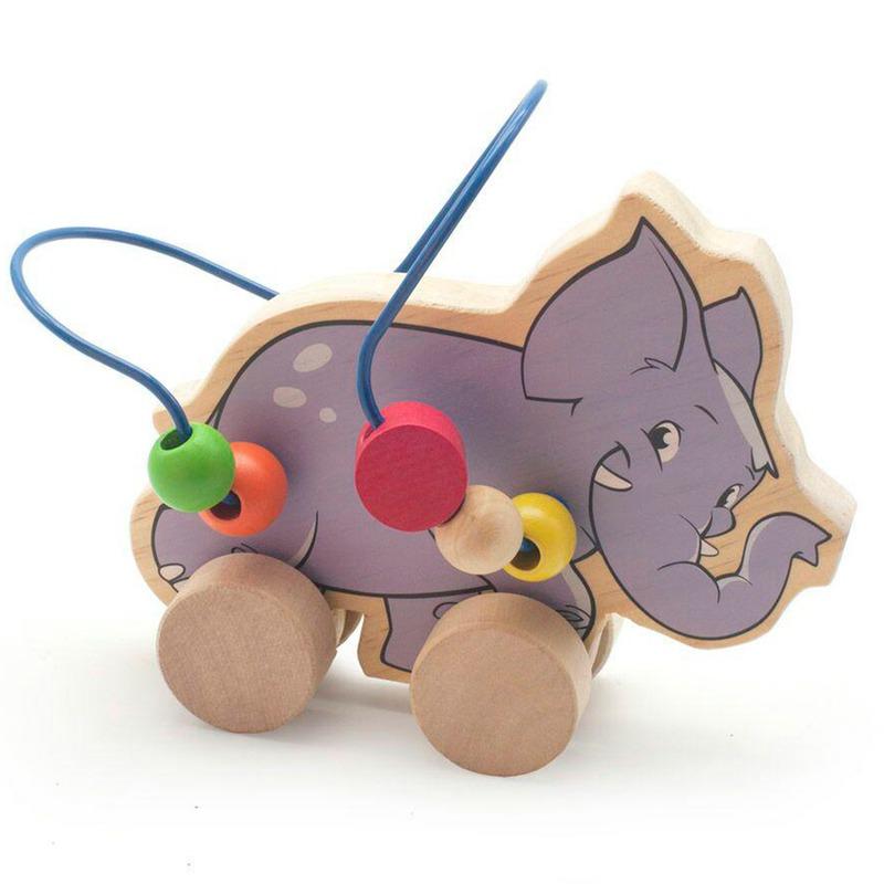 Лабиринт-каталка Слон Игрушки из дерева