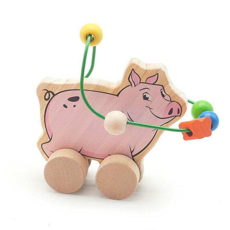 Лабиринт-каталка Свинья Игрушки из дерева