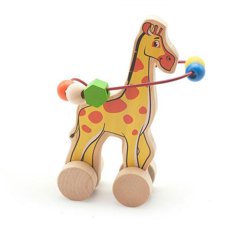 Лабиринт-каталка Жираф Игрушки из дерева