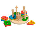 Логический Круг Игрушки из дерева 17 деталей