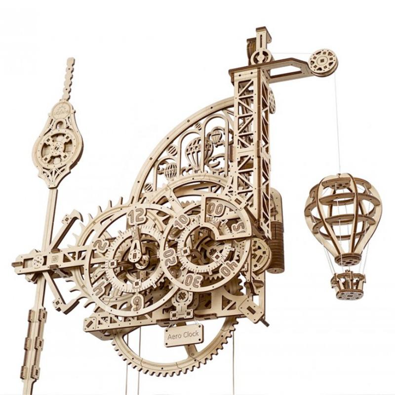 Механические 3D пазлы UGEARS Аэро Часы 70154 (320 деталей)